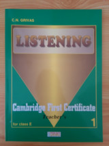 Listening - Cambridge First Certificate - Tearcher's Book for Class E