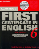Cambridge First Certificate in English 6 Self-Study Pack